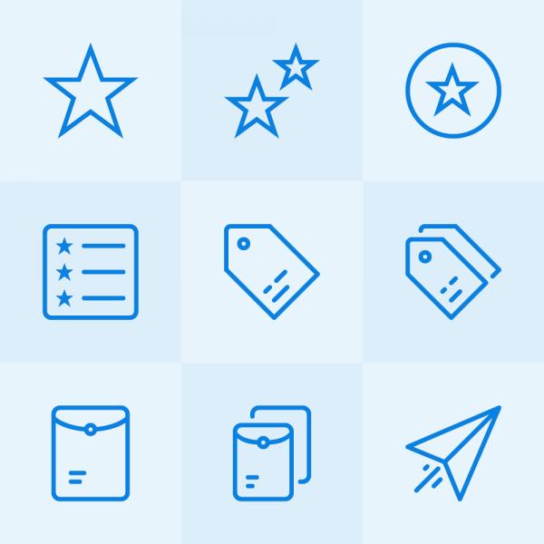 Lynny Icons - Mini Set 7 vector