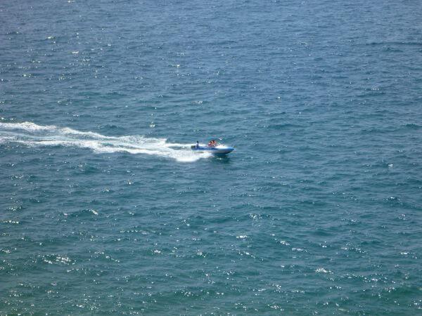 Speedboat Blue Waters Sea photo