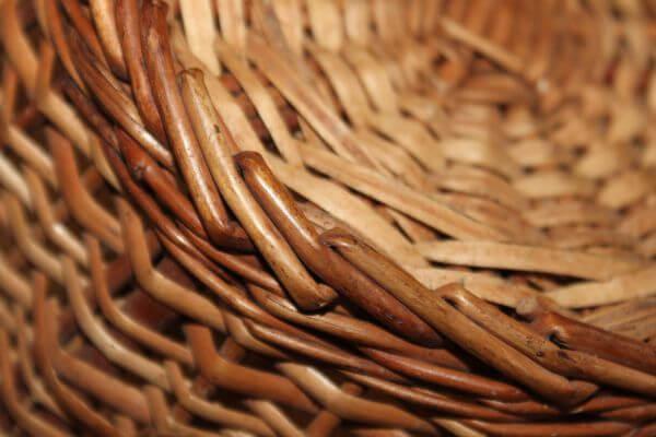 Cane Bamboo Basket Woven photo