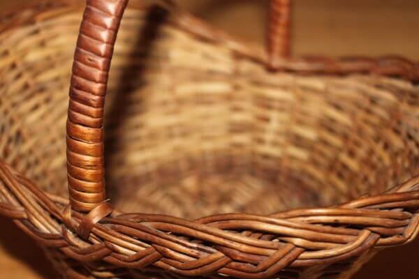 Cane Basket Brown photo