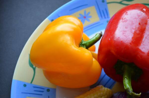 Bell Peppers Yellow Red photo