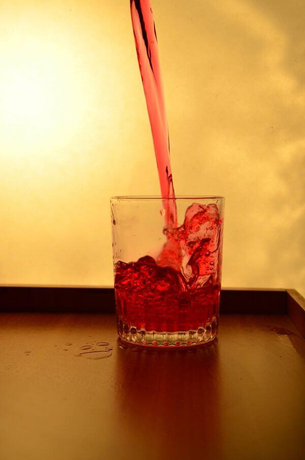 Red Liquid Falling photo