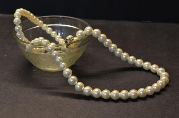 Bowl Of Pearl Necklace photo