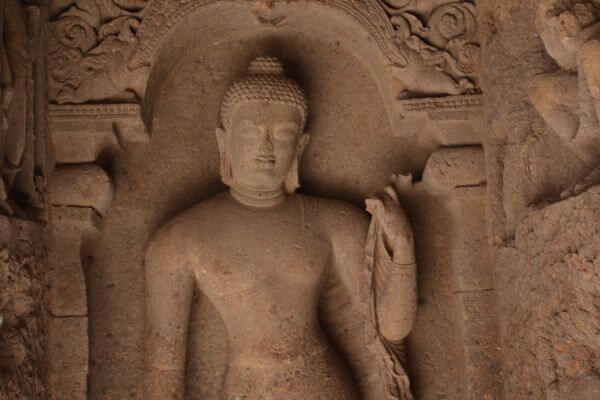 Buddha Sculpture Inside Caves photo