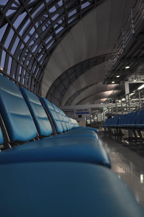 Airport Waiting Are Chairs photo