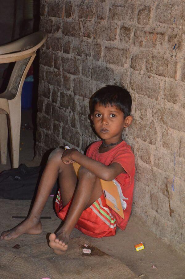 Child Reading Indian photo