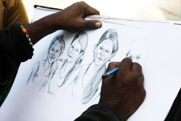 Artist Sketching photo