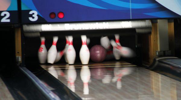 Bowling Pins Strike photo
