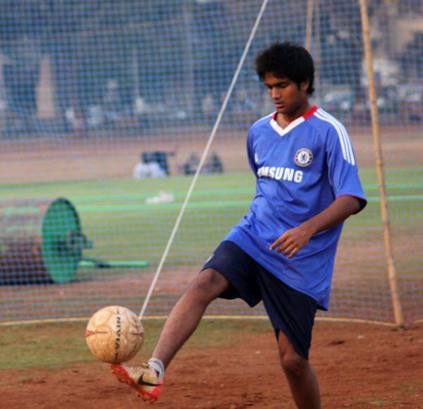 Boy Playing Soccer photo