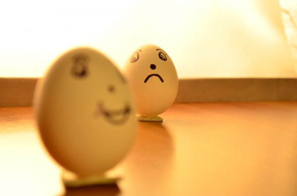 Eggs Expressions Happy Sad photo