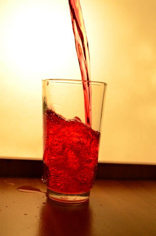 Red Liquid Glass Pour 4 photo