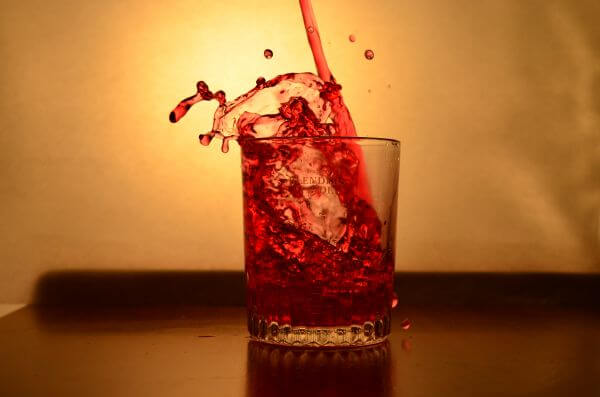 Red Liquid Glass Pour 6 photo