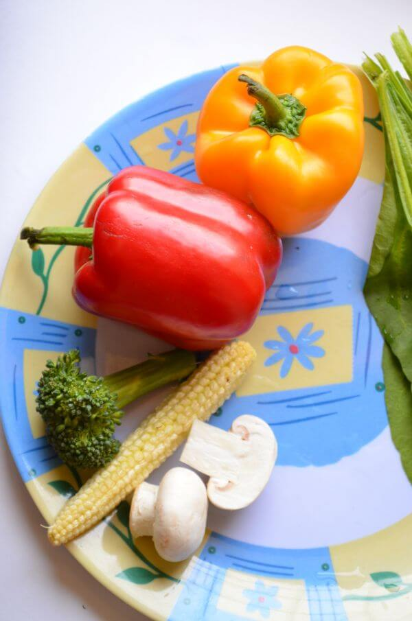 Vegetables Plated photo