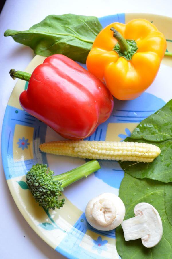 Veggies In A Plate photo
