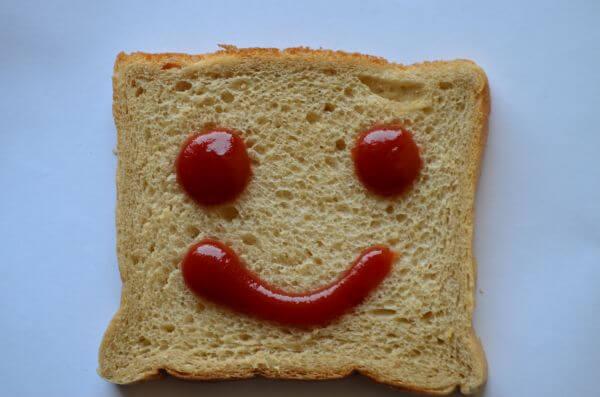 Bread Slice Smile Emotion photo