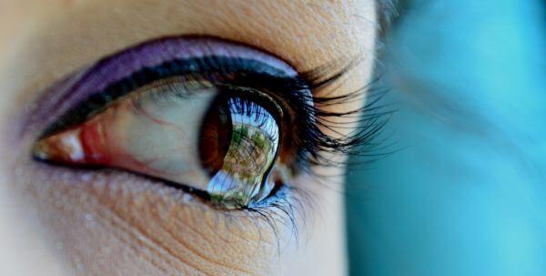 Eye Closeup Tears Sadness photo