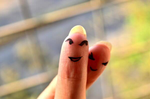 Finger Smiley Faces photo