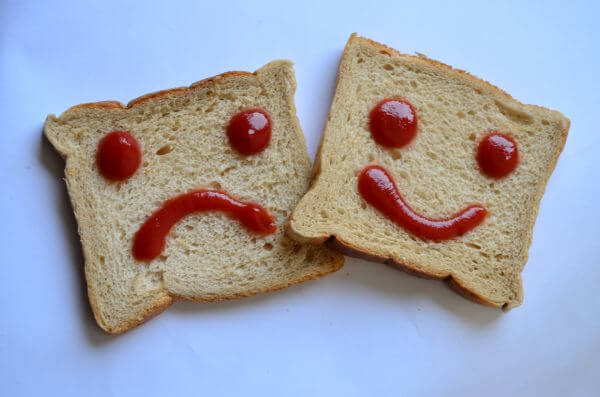 Happy Sad Face Bread photo