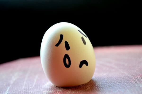 Sad Emotion Egg photo