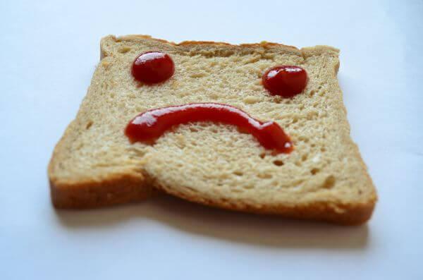Sad Smiley Bread photo