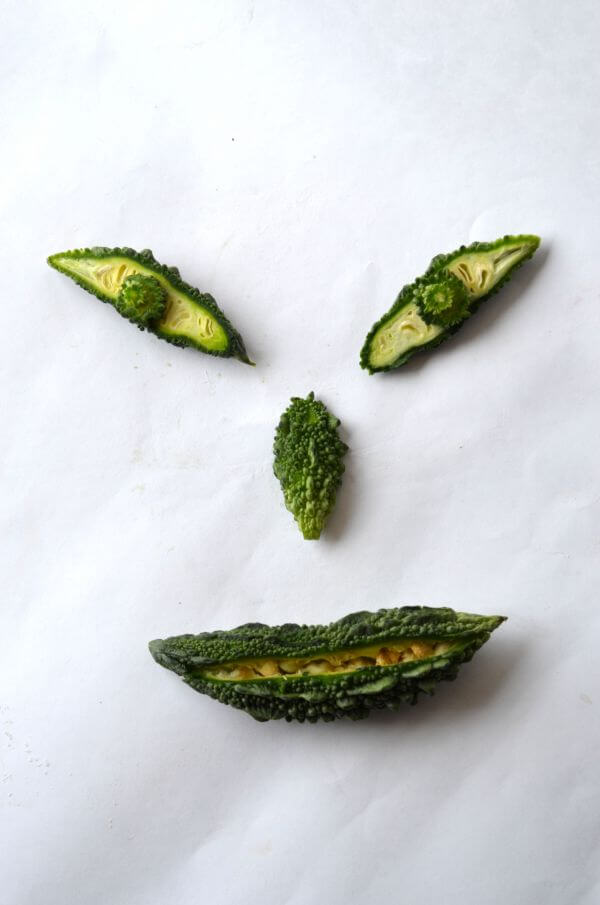 Smiley Face From Vegetables photo