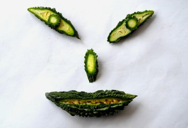 Smiley Made From Veggies photo
