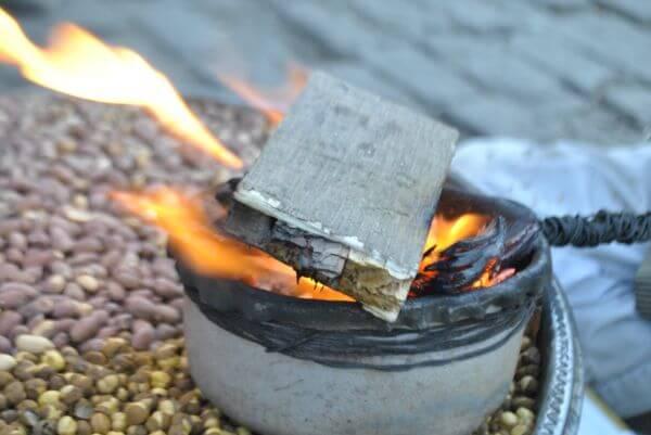 Burning Coal Wood photo