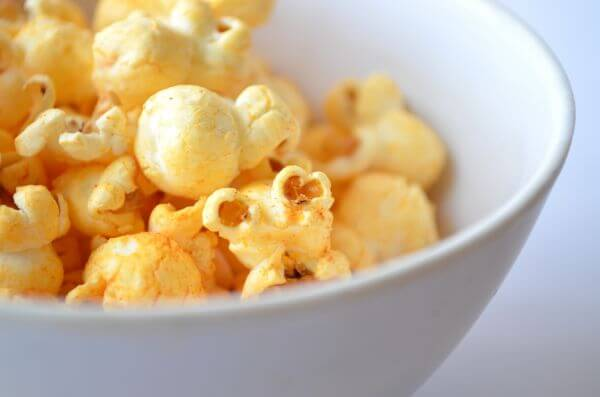 Bowl Of Popcorn Closeup photo