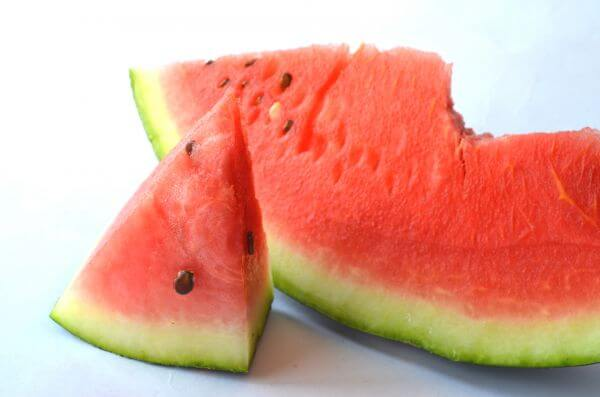 Fruits Red Watermelon Cut Slice photo