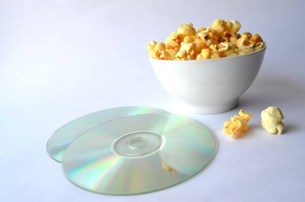 Movie Disc Popcorn Dvd Cd photo