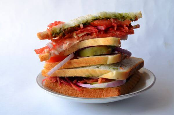Sandwich Tall Veggies Plate photo