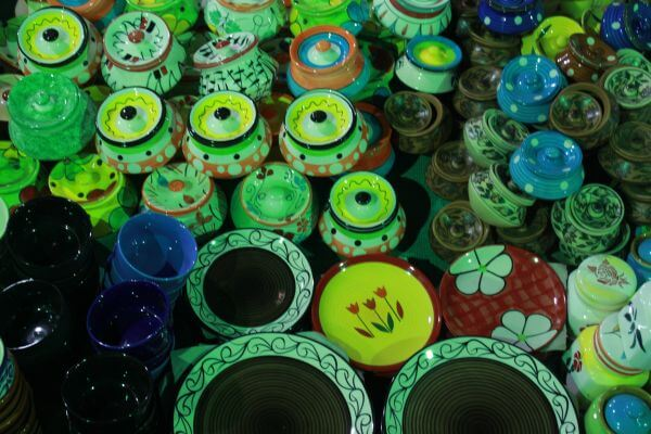 Array Of Earthenware Colorful 2 photo