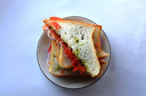 Vegetable Sandwich 2 photo
