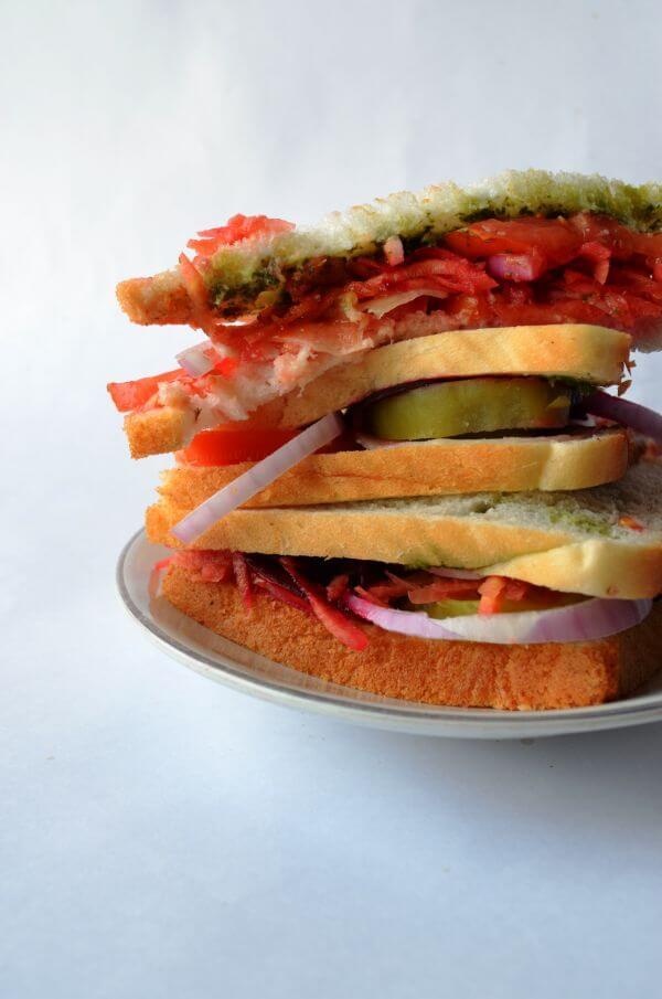Vegetable Sandwich 4 photo