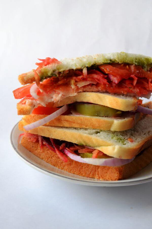 Vegetable Sandwich 9 photo