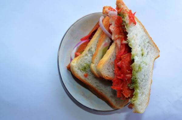 Vegetable Sandwich photo