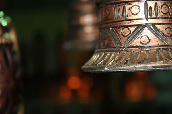 Brass Metal Bell Closeup photo