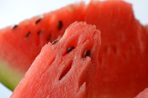 Watermelon Slice Red Closeup photo