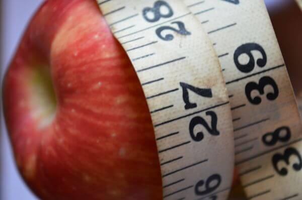 Diet Apple Measure Tape Waist photo