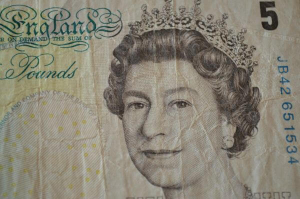 Pound Notes Closeup photo