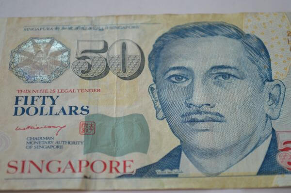 Singapore Fifty Dollars Closeup photo