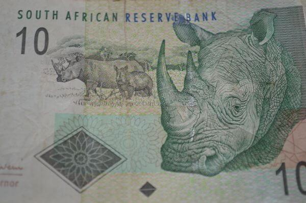 South Africa Note Closeup photo