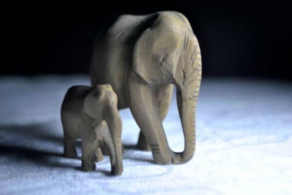 Elephant Model Statue photo