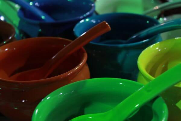 Colorful Bowls Soups photo