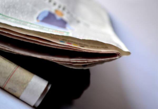 Newspaper Folded photo
