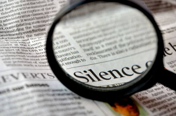 Silence Word Magnified photo