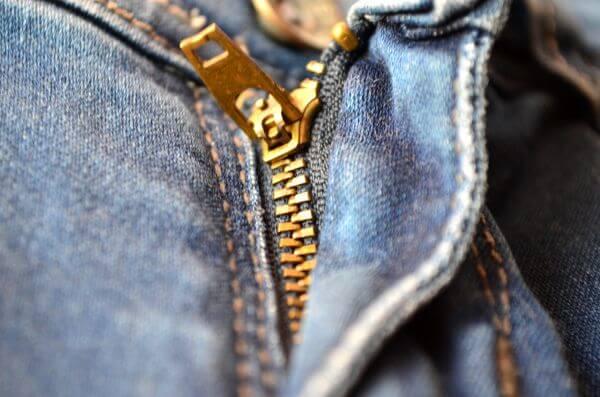 Zip Denim Jeans photo