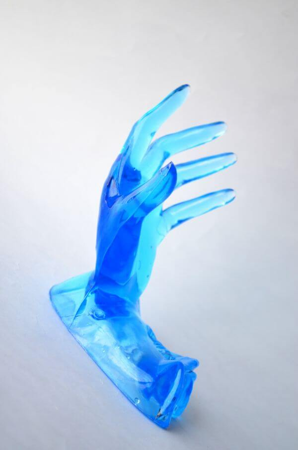 Blue Plastic Hands photo