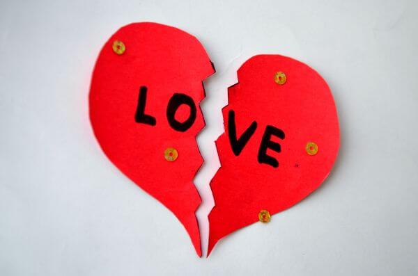 Broken Heart Cut Paper photo