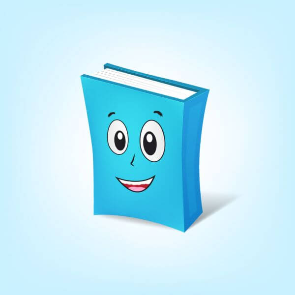 Book Cartoon Character vector